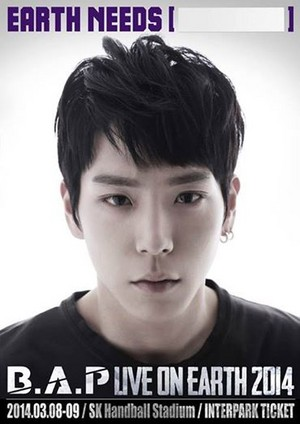 Himchan's 'B.A.P LIVE ON EARTH SEOUL 2014' poster