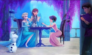trà time~~ Elsa,Anna and Rapunzel