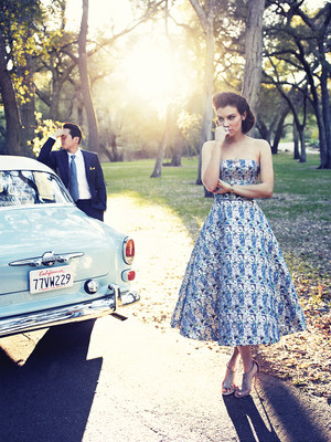 Lauren Cohan and Steven Yeun for Los Angeles Magazine