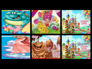 collage of candyland