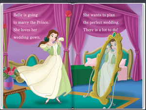 Belle's Wedding Dress in disney Princesses Beautiful Brides