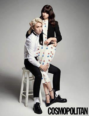 Key and Arisa Yagi for 'Cosmopolitan'