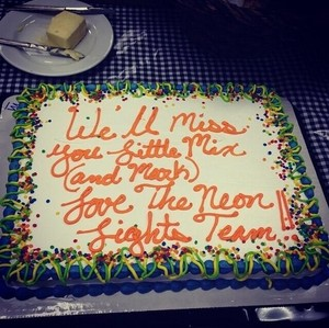 The cake for Little Mix from the Neon Lights Team!!! ❤❤❤❤