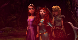 Rapunzel Astrid and Merida