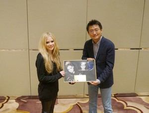 Receiving Gold Certification for Avril Lavigne, China (March 3)