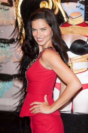 Adriana Lima at the Bond jalan store in London