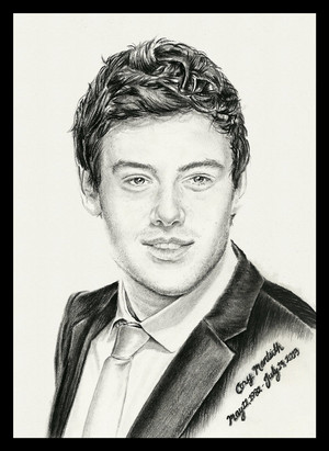 Cory Monteith tribute drawing