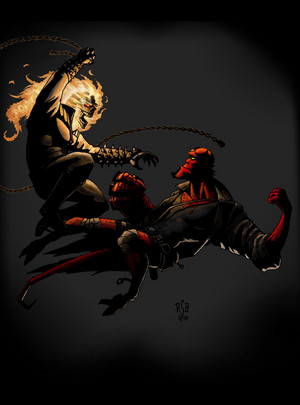 Ghost rider vs hellboy
