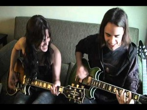 "Lzzy and Joe playing ""I Get Off"""