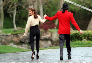 Michael And First Wife, Lisa Marie Presley At Neverland