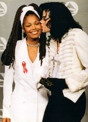 Michael And Janet Backstage At The 1993 Grammy Awards