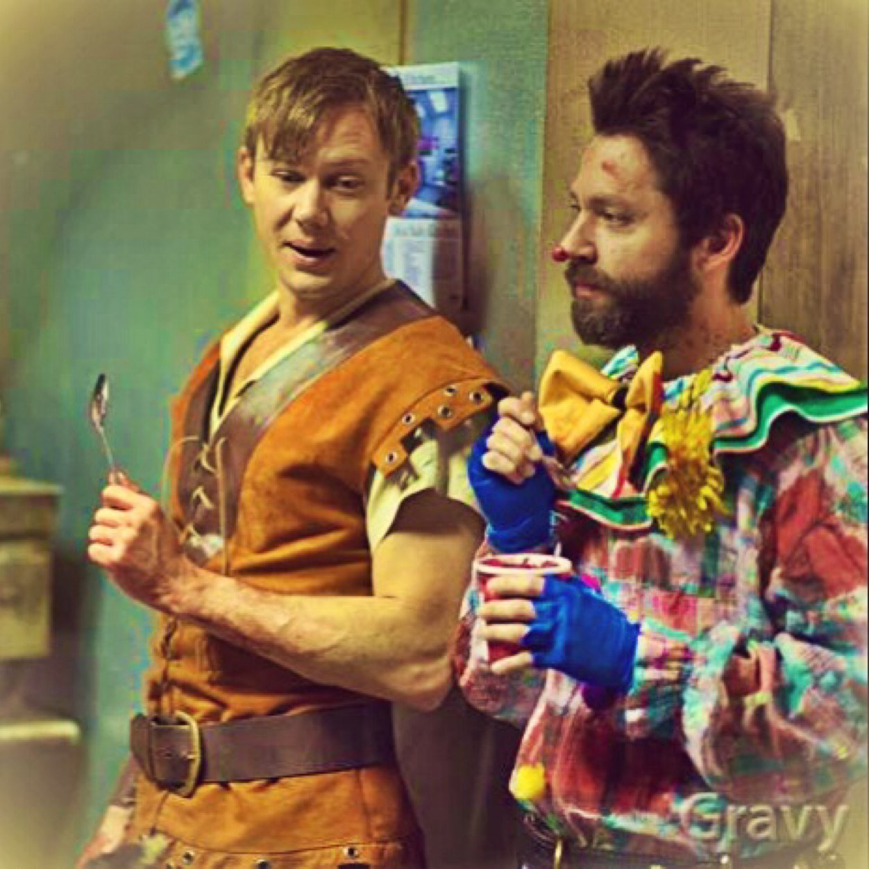 Michael Weston and Jimmi Simpson in Gravy