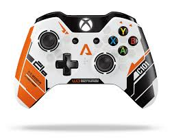 Xbox one controller with a Titanfall skin