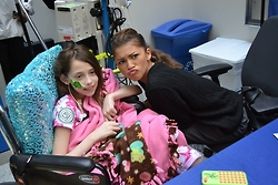 (more) Zendaya visiting patients at The Children's Hospital of Philadelphia 04/05/14