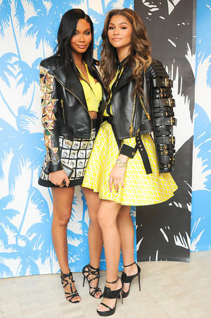 Another picture of Zendaya at a celebration for designer Fausto Puglisi's debut