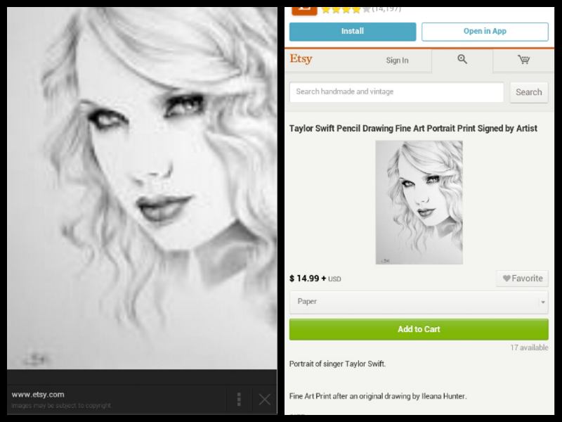 Copied Taylor Swift Drawing