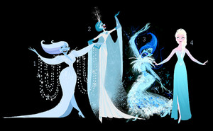 Evolution of a Snow Queen