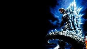 Godzilla lit up back wallpaper
