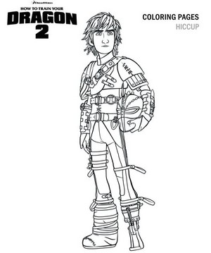 Hiccup Coloring Page