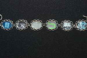 Joy Division album cover art bracelet