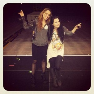 Lzzy Hale and Amy Lee