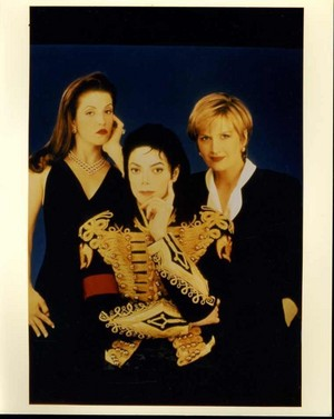 Michael Jackson With First Wife, Lisa Marie Presley And Journalist, Diana Sawyer