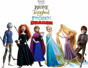 Rise of the Brave Tangled Frozen Dragon