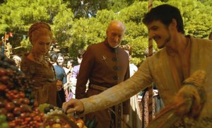 oberyn with tywin and cersei