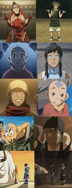 Avatar Aang and Korra