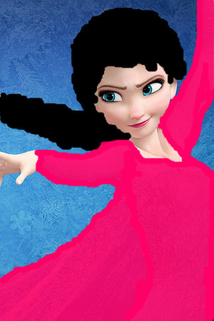 Elsa*with black hair*