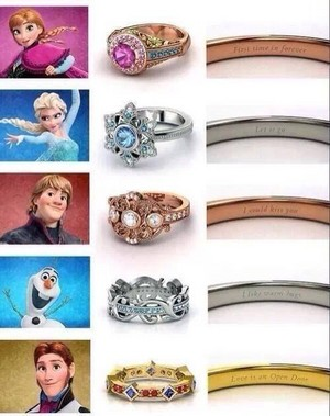 frozen Inspired Rings