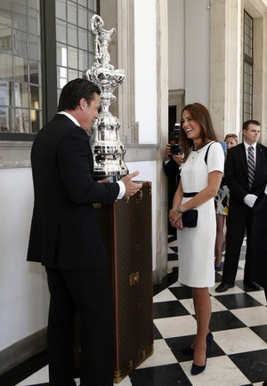 Kate Middleton Helps Launch America's Cup