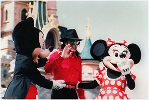 Michael Jackson At Disneyland In Paris, France