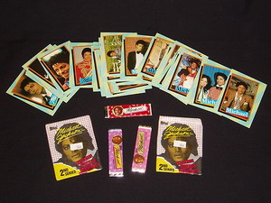 Michael Jackson Trading Cards With Three Sticks Of Bubblegum