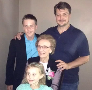 Nathan and his family(June,2014)