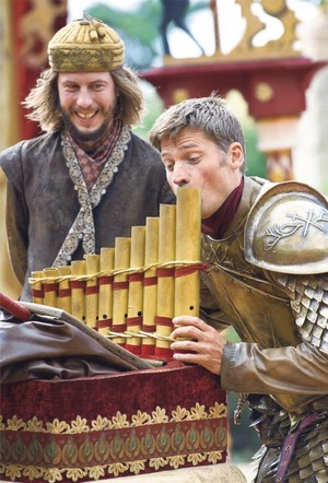 Nikolaj Coster-Waldau entertains Orri Pall Dyrason