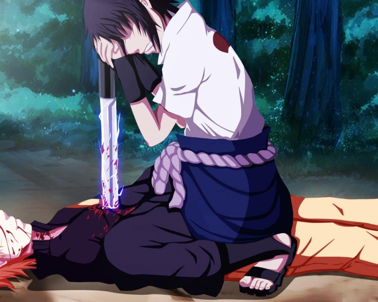 Sasuke Uchiha and Naruto Uzumaki uchiha sasuke 37194364 1280 1024