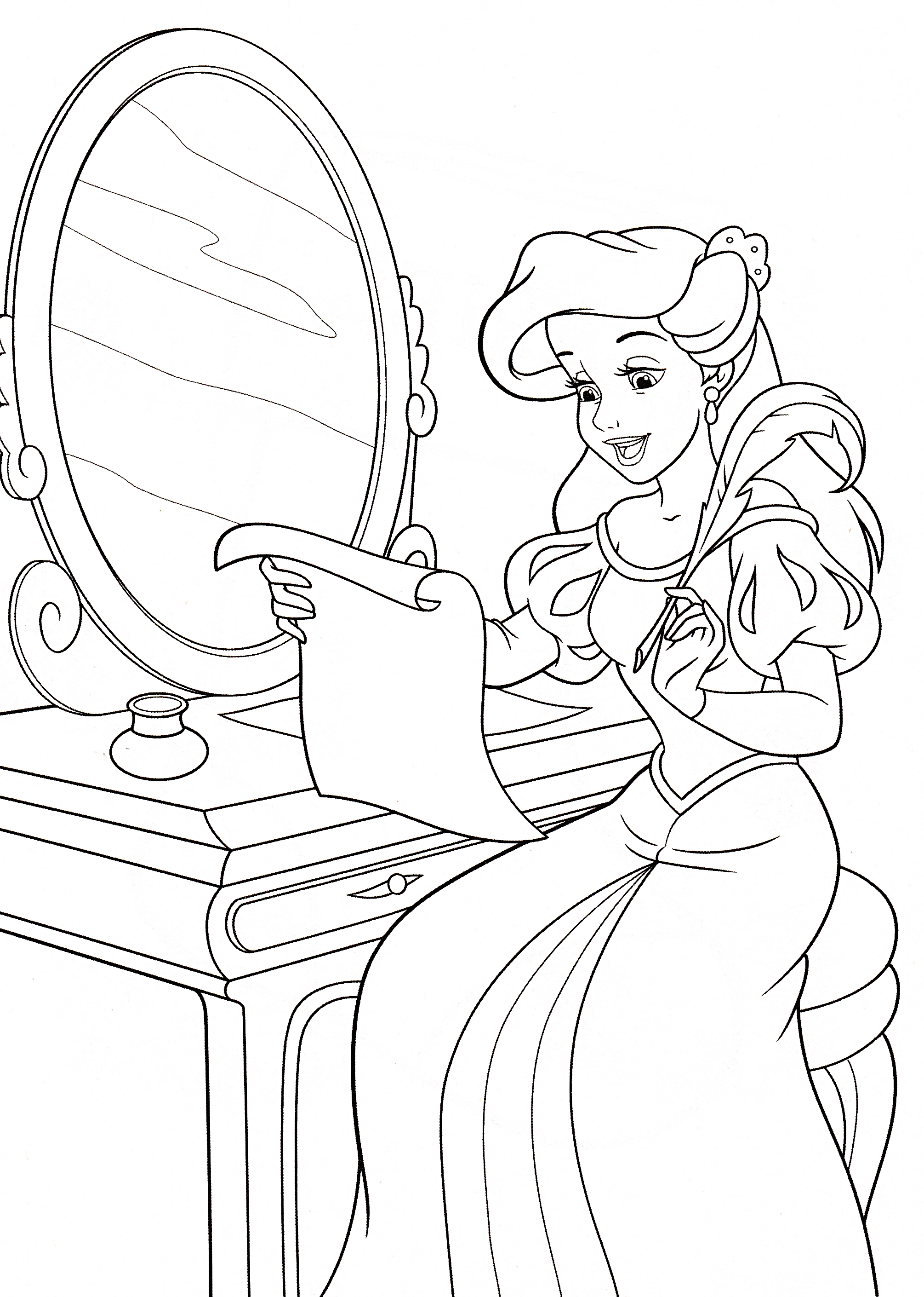 Walt Disney Coloring Pages - Princess Ariel - Walt Disney ...