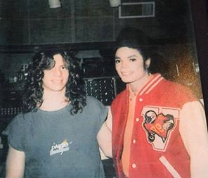 Michael Jackson with Brad Buxer