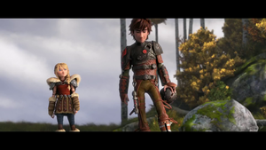 Astrid and Hiccup Screencap