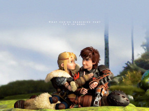 Astrid and Hiccup wallpaper Standard