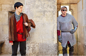 Bradley/Colin - on set