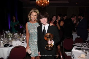 Chandler and his mom at Saturn Awards