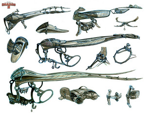 HTTYD 2 - Saddle designs for Hiccup and Toothless
