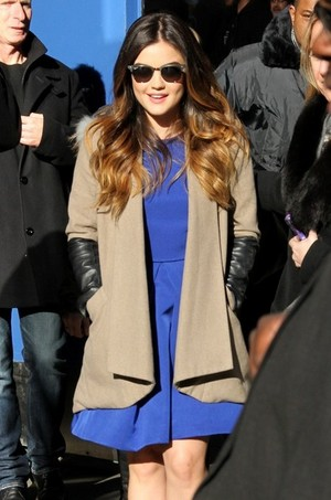 Lucy arrives @ the ABC Studios for 'Good Morning America' - March 18th