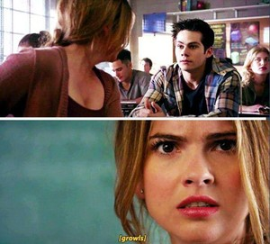 Malia having to go to the board:')
