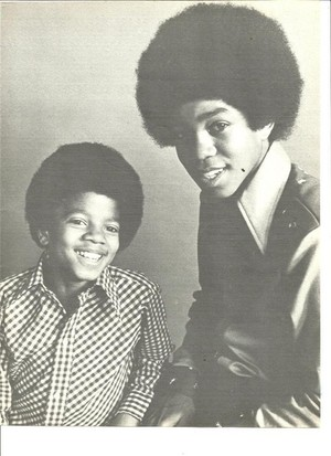 Michael And Older Brother, Jermaine