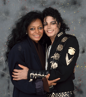 Michael Jackson and Diana Ross