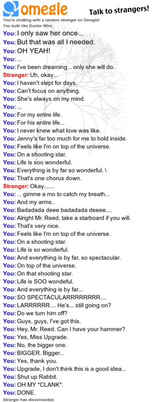 On parte superior, arriba of the Universe OMEGLE CHAT!!