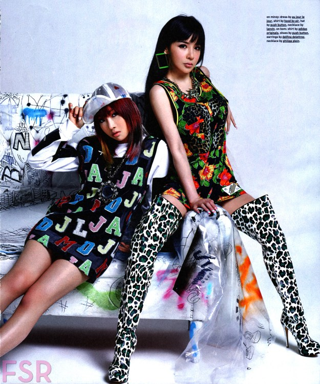 Park Bom and Minzy in Nylon USA